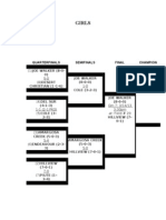 2013 Tdsl Soccer Tounament Girls Bracket