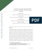 Finding the trigger to Iapetus' odd global albedo pattern