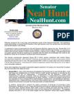 Senator Neal Hunt - March Legislative Newsletter
