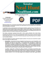 Senator Neal Hunt - March Legislative Newsletter