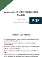 ER Constraints