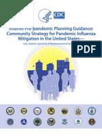 Community Mitigation Pandemic Flu