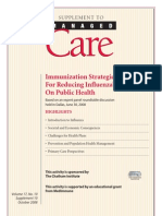 Immunization Influenza Economics Impacts Article
