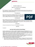 Ley Titulación Supletoria