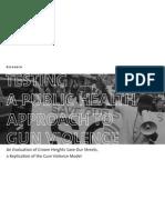 Testing Gun Violence as Public Health Problem