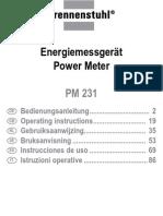 Brennenstuhl Pm 231 e Energiemeter Handleiding Manual