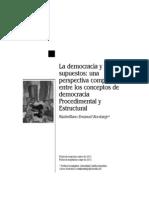 La Democracia y Sus Supuestos.. Una Perspectiva Entre Los Conceptos