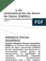 Sistemas de Administracion de Bases de Datos
