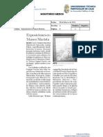 Informe de prensa semana del 01 al 08 de marzo de 2013