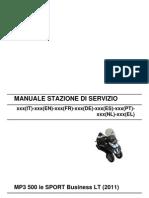 Piaggio MP3 500 Ie SPORT Business LT MY 2011 (EN)