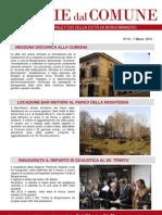 Notizie dal Comune di Borgomanero del 7 Marzo 2013