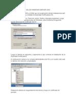 Ssl en Windows Server 2003