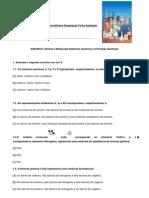 Ficha de trabalho Quimica Mineral Preparação teste