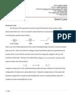 Physics 222 Ohm's Law Lab Report