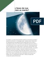 Como as fases da Lua influenciam as marés