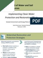 BWSR Clean Water Presentation