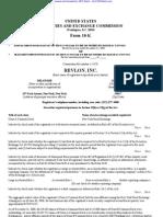 REVLON INC /DE/ 10-K (Annual Reports) 2009-02-25