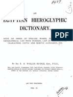 An Egyptian Hieroglyphic Dictionary-Vol 2
