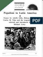 Gilly y cía sobre populismo en AL