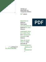 El Manual Washington de Terapéutica Médica