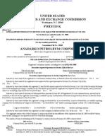 ANADARKO PETROLEUM CORP 10-K (Annual Reports) 2009-02-25
