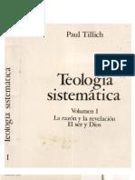 Paul Tillich - Teologia Sistematica (Volumen I)