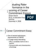 Evaluating Rater Performance in the Scoring of Career