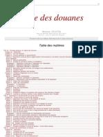 Code Des Douanes