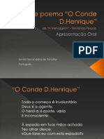 Análise poema Conde D.Henrique