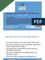Mastering AutoLISP in 80 Minutes