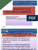 Mantenimiento de Recursos Humanos