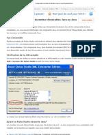 Configuration du moteur d'exécution Java ou Java Development Kit