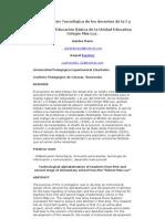 Alfabetización Tecnológica de los docentes de la I y