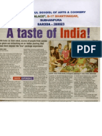 The Taste of India at Manjul School of Arts and Cookery Baroda