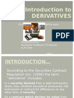 8. Introduction to DERIVATIVES