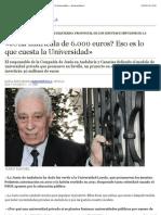 «¿Una matrícula de 6.000 euros
