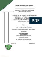 Enlace de Microondas Entre Villa de Reyes y Laguna de San Vicente en El Estado de San Luis Potosi[1]
