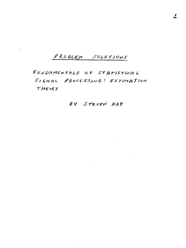 fundamentals of statistical signal processing detection theory solution manual