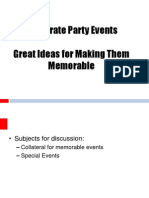 Ideas for Memorable Corporate Events