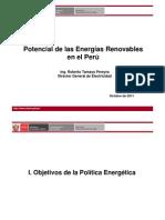 3. Potencial de Energias Renovables DGE- Roberto Tamayo