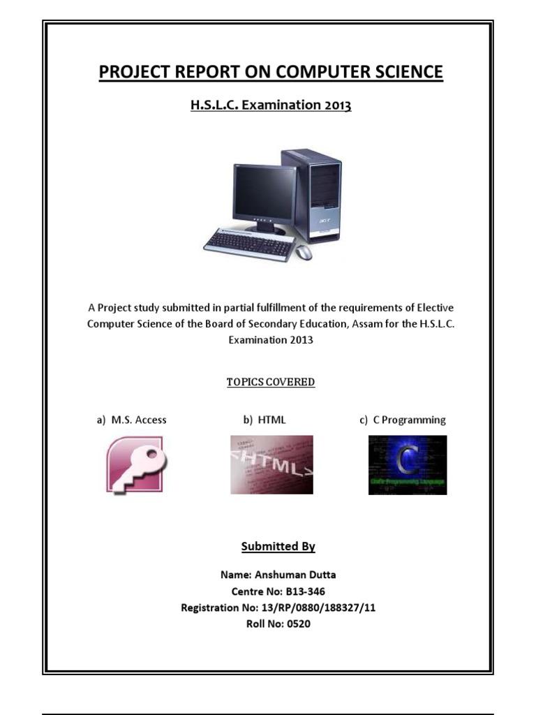 seba computer science project class 10 markup language c