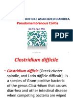 Clostridium Difficile Associated Diarrhea