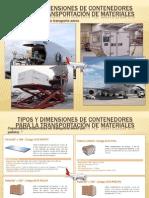 Tipos y dimensiones de contenedores para la transportación de materiales