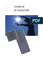 Master Thesis - Solar Air Collector