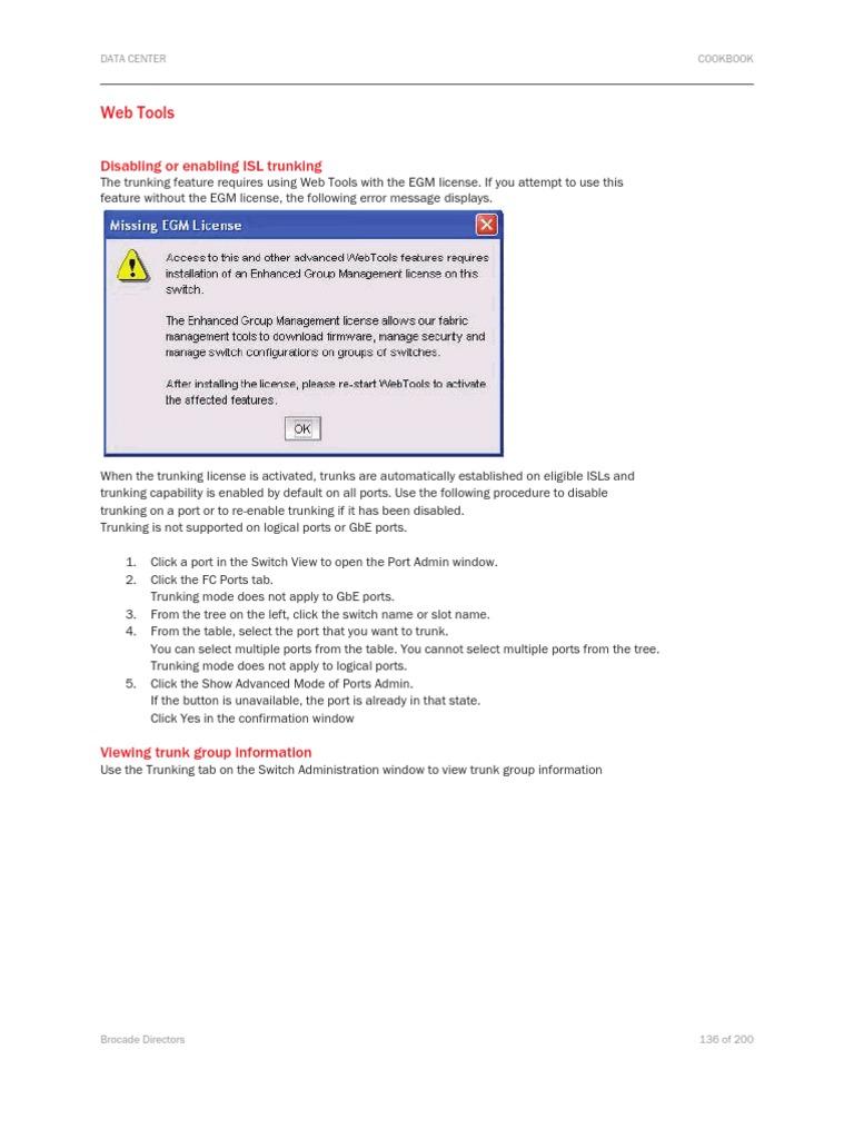Brocade Trunking GUI | Tab (Gui) | World Wide Web