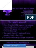 The Nativist Approach