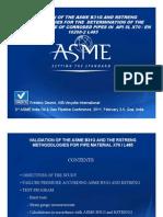 Track-4-Ben-Verhagen - Validation of ASME 31G and RSTRENG