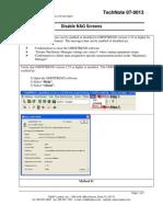 CMTN07-0013 OMT Disable Nag Screens