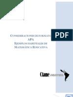 16. Consideraciones de formato APA. Ejemplos habituales de Matemática Educativa - LitArt