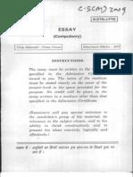 Essay UPSC